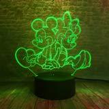 3D lamp bedlampje schattige muismat nachtlampje voor de kinderkamer, led-lamp voor de woonkamer perfect cadeau voor kinderen