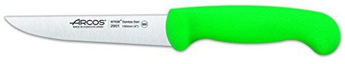 Arcos 290 Cuchillo Verduras Verde 100 MM. F. D Serie 2900 290121, Acero Inoxidable