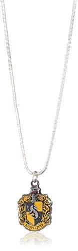 HARRY POTTER WN0024 Collar con Colgante Hufflepuff, Plateado, Talla única para Mujer 11