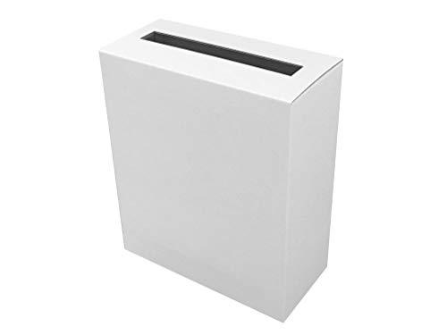 代引対応 アンケート ボックス 両面ホワイトダンボール A4用紙サイズがそのまま入る!便利で丈夫なダンボールタイプ (回収BOX 応募箱 抽選箱 投票箱など) (両面ホワイト)