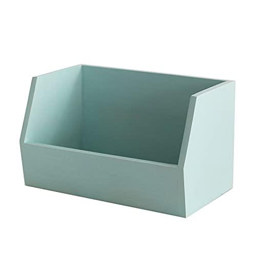 OMYLFQ Organizzatore del Desktop Desk Desk Armadio per la deposito del Desktop Organizzazione per la deposito del Desktop per la casa Artigianato Organizzazione del deposito di vanità (Color : Blue)