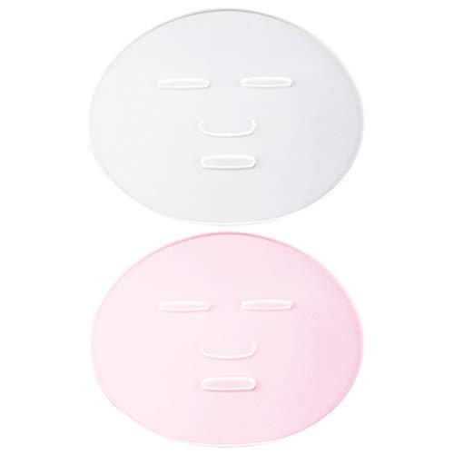Pixnor 2 Pcs Masque Facial Fabricant Plaque Silicone Réutilisable Masque Facial Algues Masque de Boue Faisant Moule Soin Du Visage Maquillage Outil pour Femmes Dame