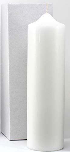 Stumpenkerze weiss 25 x 7 cm, mit Karton zur Aufbewahrung - 948010 - Kerzenrohling 250x70 mm zum Basteln und Verzieren