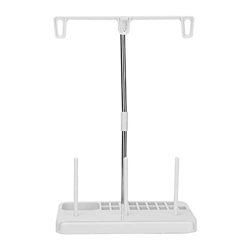 Suporte de suporte de linha, um conjunto Suporte de rack de 3 carretéis Suporte de 3 carretéis para uso doméstico para máquinas de costura(creamy-white)