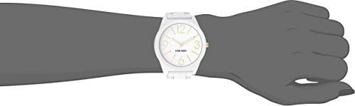 Nine West Women's NW/1678WTWT Analog Display Japanese Quartz White Watch, White/Gold WeeklyReviewer