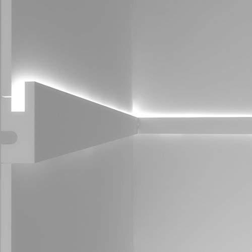 Stuckleiste Wandleiste Deckenleiste Lichtleiste für indirekte LED Beleuchtung - EL301 Eleni Lighting Italy - 1,15m