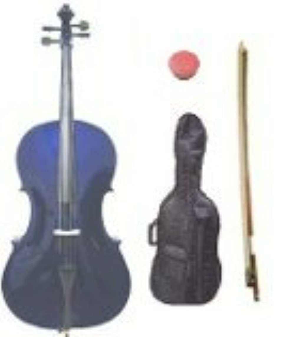 GRACE 1/8 Size Purple Cello with Bag and Bow + Free Rosin