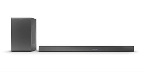 Philips B8905/10 Soundbar mit Subwoofer kabellos (3.1.2 Kanäle, Bluetooth, 600 W, Dolby Atmos, HDMI eARC, DTS Play-Fi kompatibel, Verbindung mit Sprachassistenten, Flaches Profil) - 2020/2021 Modell