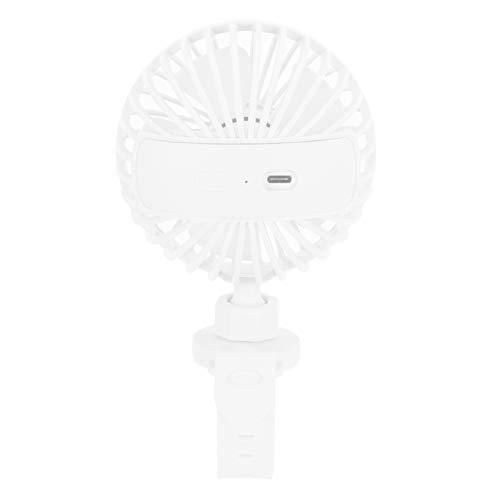 Ventilador portátil, ventilador de viaje Mini ventilador, para viajes en casa, interior y exterior(white, Pisa Leaning Tower Type)