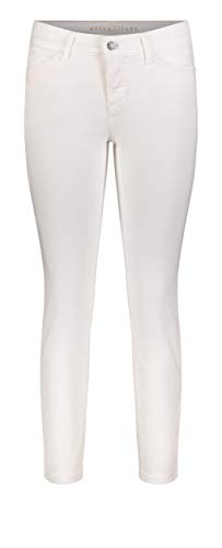 MAC Jeans Damen Dream Summer Straight Jeans, White Denim, 30 / L27 (Herstellergröße: 30/27)