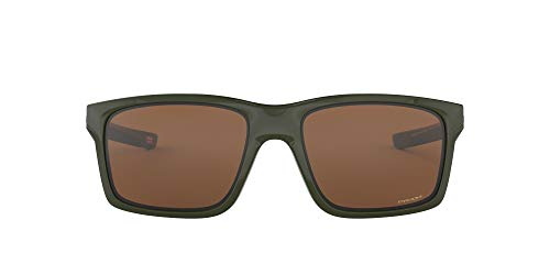 Oakley Men's OO9264 Mainlink Rectangular Sunglasses, Military Green/Prizm Tungsten, 61 mm