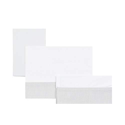 Cambrass Star - Sabana para moisés, pack de 3, color gris