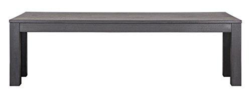 PEGANE Banc rectangulaire en chêne Noir 160 cm, H 46 x L 160 x P 30 cm
