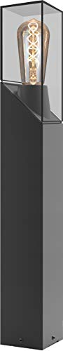 Voltman VOM069352 VOM69352-Potelet-Modèle Faro-H 60CM-IP54-E27-23 Watts-Gris, 60 cm