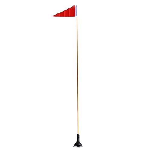 Gfhrisyty Bandera de Seguridad para Kayak de 120 Cm, Canoas de Pesca, Bandera de Usos MúLtiples, Yate, Bote, Bandera, Montaje, Accesorios para Kayak