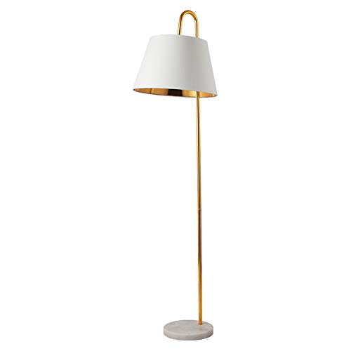 Lampadaires nordiques en fer, Post-moderne LED Tissu Socle en marbre Décoration Etage Bureau Lumière Mode Créatif Salon Chambre Canapé Éclairage Plancher Lampe