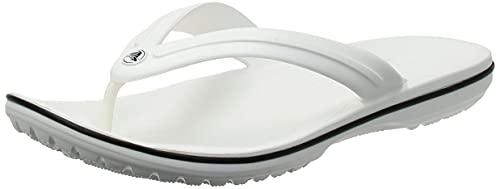 Crocs Crocband Flip Infradito, Unisex - Adulto, Bianco, 39/40 EU