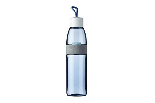 Mepal Trinkflasche Ellipse 700 ml, ABS/PCTG, Nordic Denim, 6,8 x 6,8 x 29,8, 700