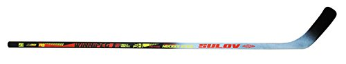 SULOV Erwachsene Eishockeyschläger Winnipeg links Kurve, schwarz, 145cm