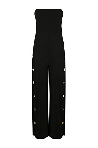 Tally Weijl Jumpsuit with Snaps Button HH XL, (hhhhblack), Gr. S