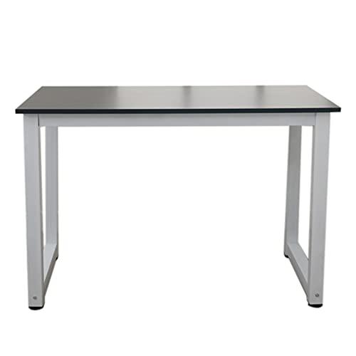 Zuoox Escritorio de comedor, mesa de ordenador, mesa de esquina para oficina, 120 cm, mesa de ordenador de alta resistencia, de madera, color negro