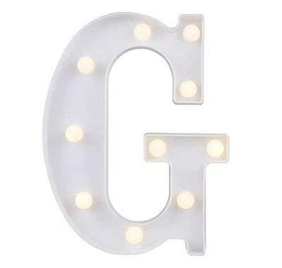 Yuna Lettere Luminose LED Lettere Decorative a LED Lettere dellalfabeto Bianco (G)