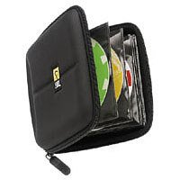 Case Logic CD/DVD Wallet Hartschalen-Aufbewahrungstasche für 24 CDs/DVDs schwarz