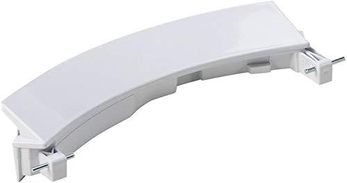 DREHFLEX - für Waschmaschine/Waschvollautomat Türgriff/Griff/Fenstergriff für diverse Geräte von Bosch/Siemens/Constructa - passend für Teile-Nr. 00751782/751782 weiß inkl. 2 Achsen
