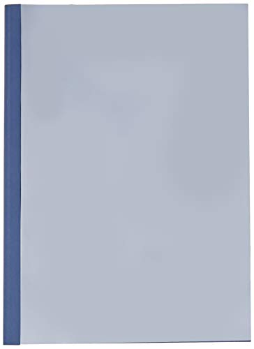Leitz 177119 Thermobindemappe Leinenoptik, A4, Rückenbreite 3 mm, 25 Stück, blau