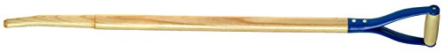 Link Handles - 66716 Bent Hollowback Shovel/Scoop Handles With Shoulder and Steel D-Grip, 1-1/2' Diameter (Various Length and Models: 30' - 42'), 30' Length, Model 829-18