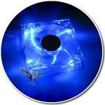 Lüfter Dark Blue PC-Lüfter 4 Blaue LEDs 120x120x25mm