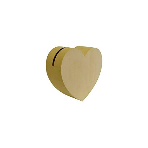 Artemio 14002117 Urne Cœur, Bois, Beige, 35 x 13 x 33 cm