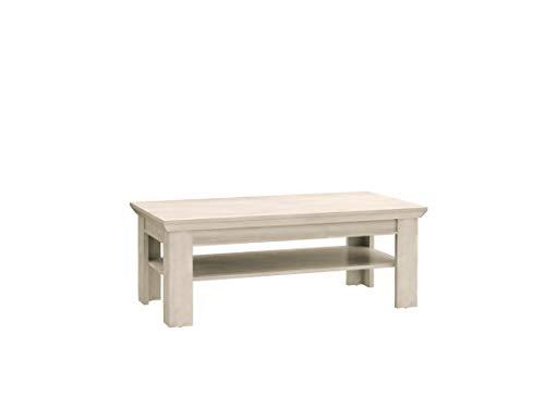 Furniture24 Couchtisch, Kaffetisch, Sofatisch Kashmir KSMB01 (Pinie Weiß)
