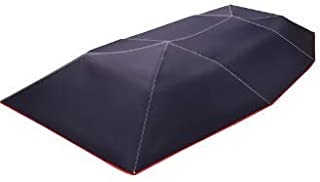 Shrinika 400x210cm Fully Automatic Car Umbrella Sunshade Tent Roof Cover Anti-UV Protection Remote (Navy)
