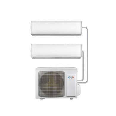 Argo Multi-Split 2X 9000 BTU A++ - Sistema di condizionatore d'aria a parete con unità singola esterna - WiFi Ready