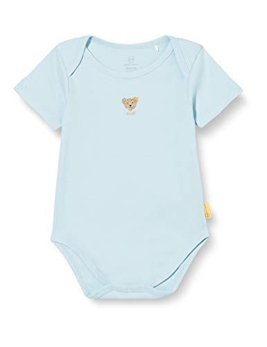 Steiff Unisex Baby Teddybärmotiv Body, Blau, 74