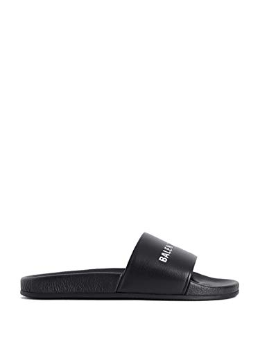 Luxury Fashion | Balenciaga Heren 530501WAL001006 Zwart Rubber Sandalen | Seizoen Permanent