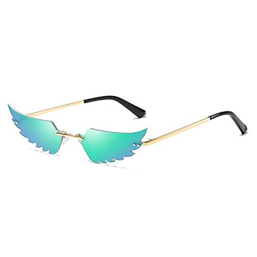 LUOXUEFEI Gafas De Sol Gafas De Sol Sin Montura Verde Dorado Rosa Gafas De Sol Para Mujer Decoración De Mujer