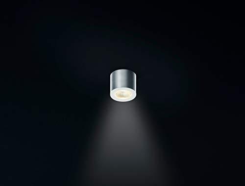 Helestra Oso 5W LED Aufbaustrahler Aluminium matt Ø: 65 mm Aufbauspot rund IP44 2800K