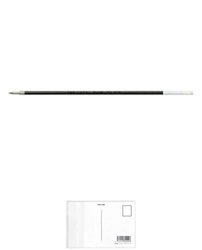 ぺんてる 油性ボールペンリフィル BKL5 黒 BKL5-A 10セット + 画材屋ドットコム ポストカードA