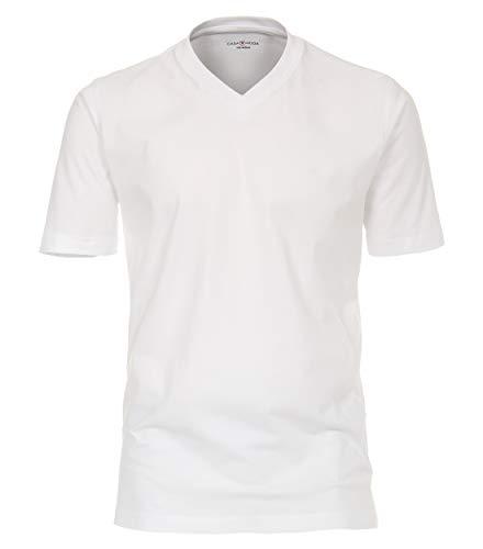 Casa Moda 092600 T-Shirt V-Neck NOS DoPa, 4XL, Weiß - Uni 4XL Weiß - Uni (000)