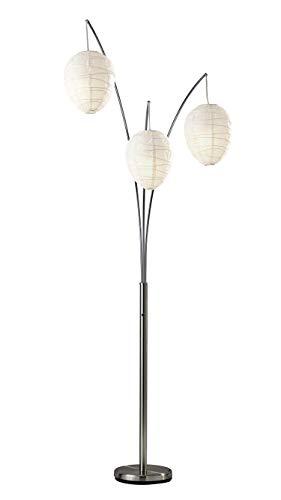 Adesso 4108-22 Belle Arc 3-Light Floor Lamp - Chrome Finish Standing Lamp. Lighting Fixture. Home Decor Accessory