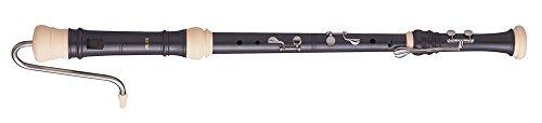 Aulos 700098 F-Bass Blockflöte Symphony Mod.533B barocke Griffw.braun, komplett mit Tasche, Tragschnur, Fettdose und Grifftabelle