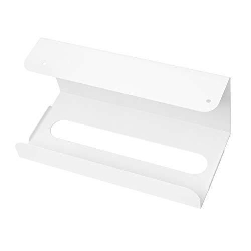 LighSele ペーパータオルホルダー 壁掛け キッチンペーパーホルダー 吊り下げ キッチンペーパー ティシュペーパー収納 台所 キャビネット デスク 収納ラック 取付簡単 ホワイト