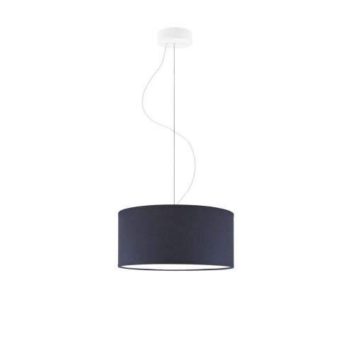 Lámpara de techo HAJFA fi, 30 cm, pantalla azul marino marco blanco