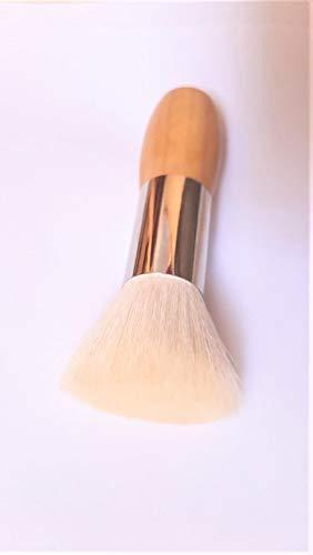 Kabuki Pinceau poudre en bois d'olivier pur poils de chèvre 11 cm