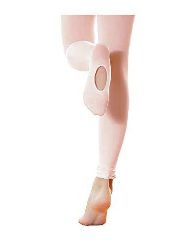 STELLE Girls' Ultra Soft Pro Dance Tight/Ballet Transition Tight (Toddler/Little Kid/Big Kid), Ballet Pink, L