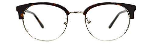 GLOBAL VISION Montatura per occhiali da vista da donna combinato (acetato/metallo) - Made in Italy (C2 - Demi Yellow/Silver)