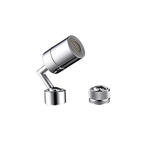 Eastdall Espumante,Torneira de água com filtro giratório universal 720 ° bocal de aspersor para cozinha, banheiro, máquina de lavar, torneira, liga, desgaste e prevenção de ferrugem