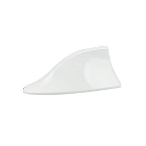 CHENJIAO Aleta de señal para antena de coche, con diseño de aleta de tiburón, compatible con Peugeot 106 206 207 208 306 307 308 SW 3008 S55 (nombre del color: blanco)